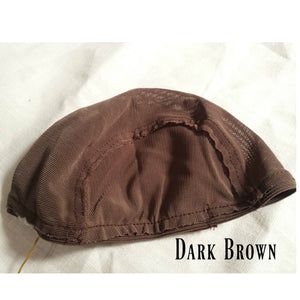 Doll Wig cap - Dark Brown