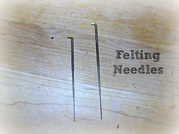 Felting needles for doll faces