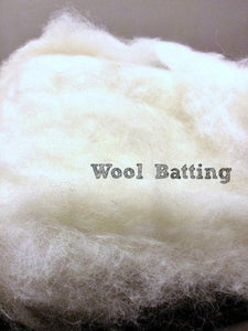 1/2 pound of wool batting stuffing
