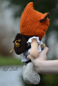 Knitted Fox ear bonnet