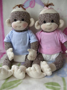 PDF PATTERN Baby Sock Monkey