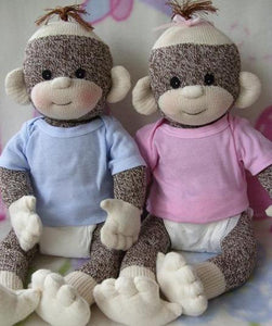 Baby Sock Monkey - Kit and pdf Pattern