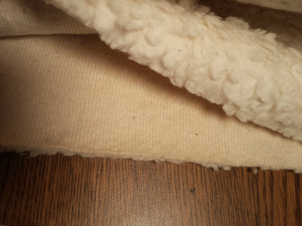 Organic cotton Teddy Fabric Sherpa Knit - Long fur