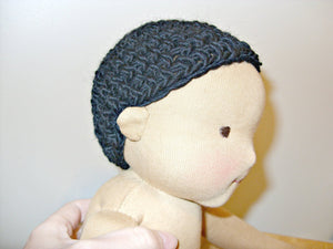 Crochet cap for doll wig