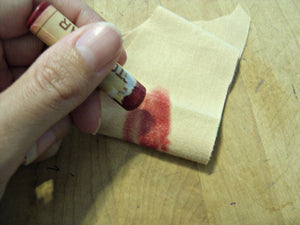 Beeswax Crayon doll making cheek color