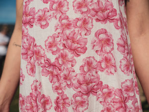 Jane Pink Flowers - Cotton Voile