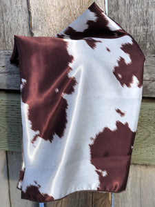 Red & White Cowhide