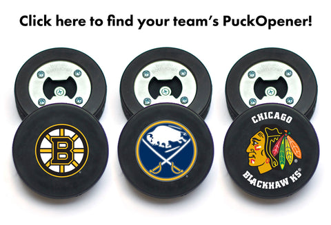 NHL Hockey Puck Bottle OPeners