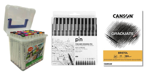 anime offer 48 colors with canson drawing notebook