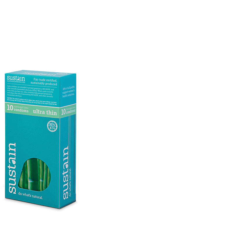 Sustain Lubricated Ultra Fit Condoms - 10 Pack