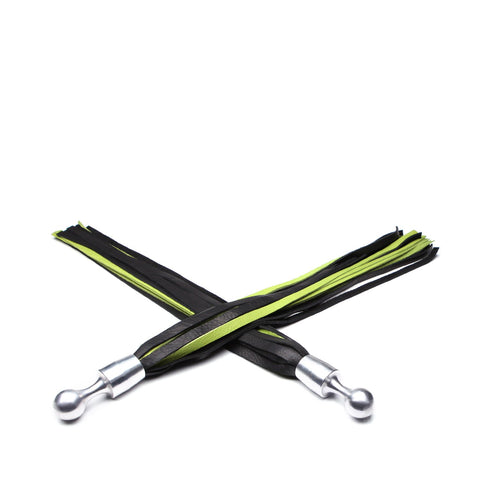 "Bido Palm Flogger Set 22"" - Black and Green"