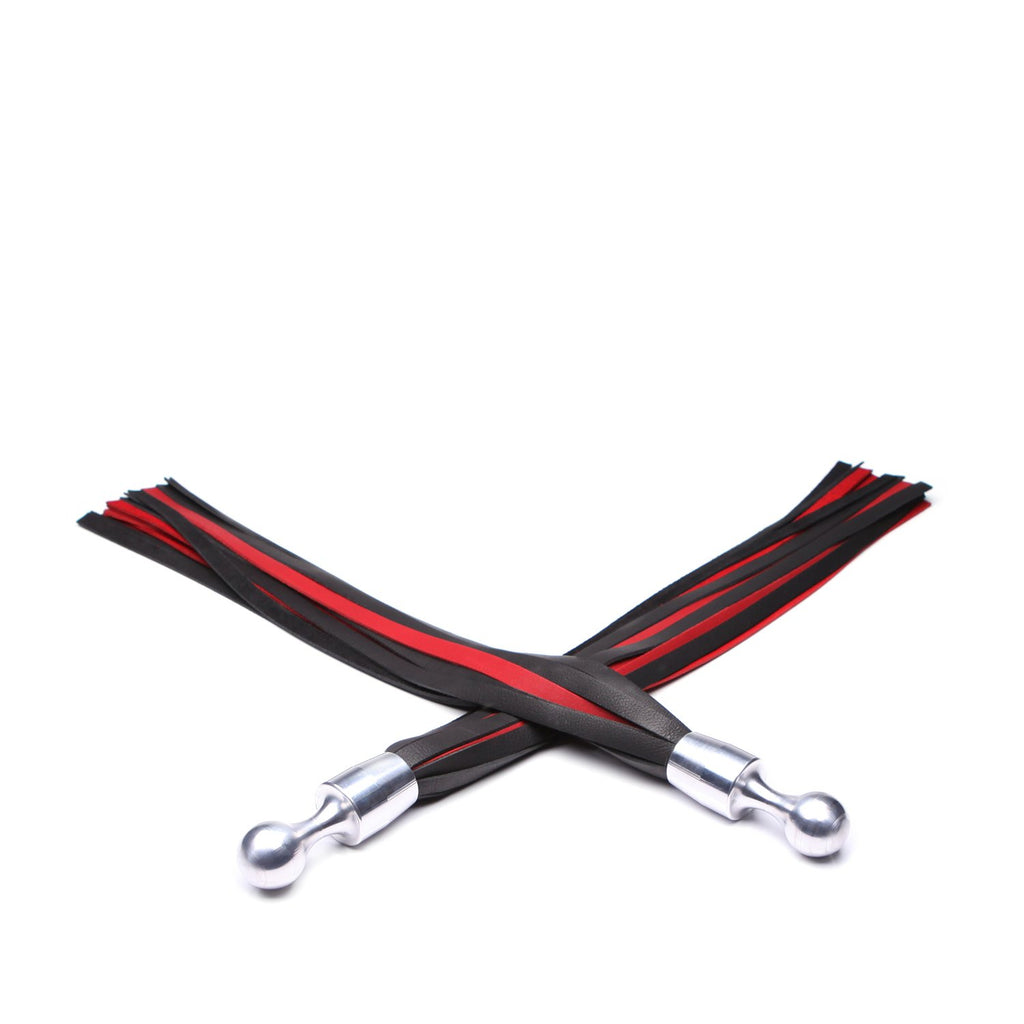 "Bido Palm Flogger Set 22"" - Black and Red"