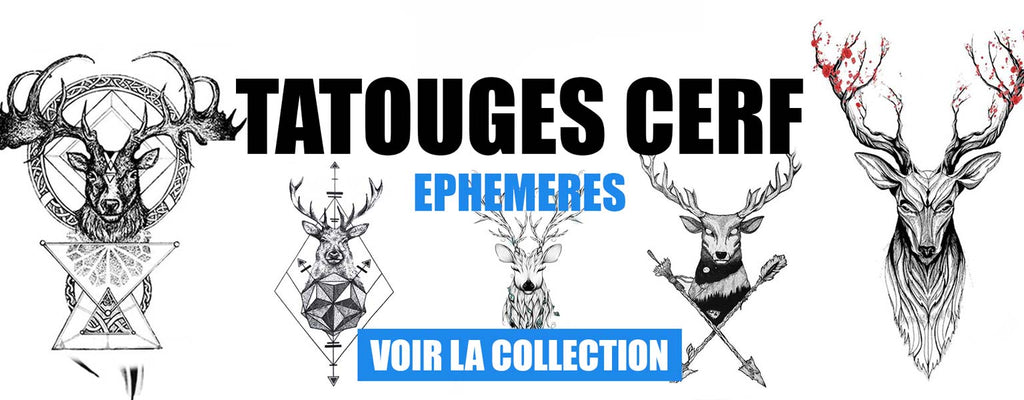 collection tatouage cerf