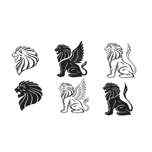 tatouage lion minimaliste