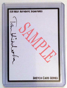 Blank signed Sketch Card Series
