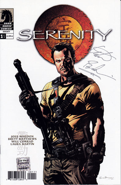 "Adam Baldwin signed ""Serenity"" Comic Book (2005) - Issue #1"