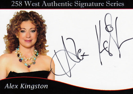 Alex Kingston signed trading card - Limited to 75
