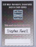 Stephen Amell - Signed Blank Sketch Card A