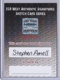 Stephen Amell - Signed Blank Sketch Card B
