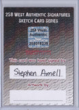 Stephen Amell - Signed Blank Sketch Card D