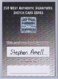 Stephen Amell - Signed Blank Sketch Card F