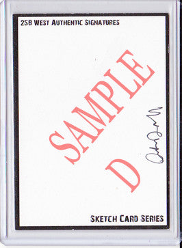 Arthur Darvill - Signed Blank Sketch Card D (Doctor Who & Legends of Tomorrow)