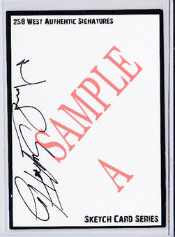 Norman Reedus & Sean Patrick Flanery - Signed Blank Sketch Card Boondock Saints