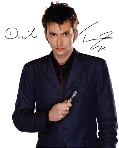 Official David Tennant signed Doctor Who 8x10 Photo