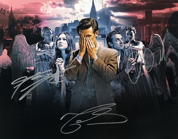 Official Karen Gillan, Arthur Darvill & Matt Smith signed Doctor Who 11x14 Photo *Rare*