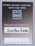 Jonathan Frankes - Signed Blank Sketch Card A (Star Trek TNG)