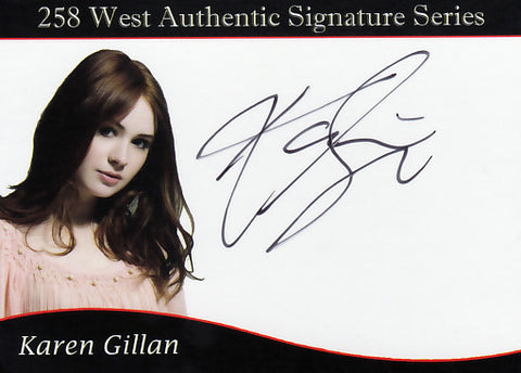 Karen Gillan signed trading card - Limited to 50