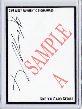 Karen Gillan - Signed Blank Sketch Card A (Doctor Who & Guardians of the Galaxy)