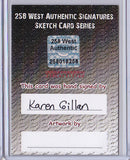 Karen Gillan - Signed Blank Sketch Card B (Doctor Who & Guardians of the Galaxy)