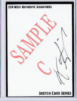 Karen Gillan - Signed Blank Sketch Card C (Doctor Who & Guardians of the Galaxy)