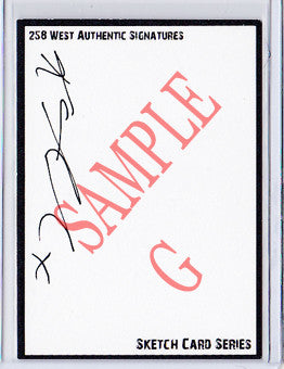 Karen Gillan - Signed Blank Sketch Card G (Doctor Who & Guardians of the Galaxy)