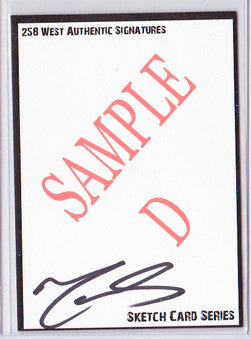 Matt Smith - Signed Blank Sketch Card D (Doctor Who)