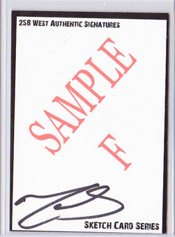 Matt Smith - Signed Blank Sketch Card F (Doctor Who)