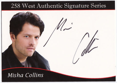 Misha Collins signed trading card - Limited to 258