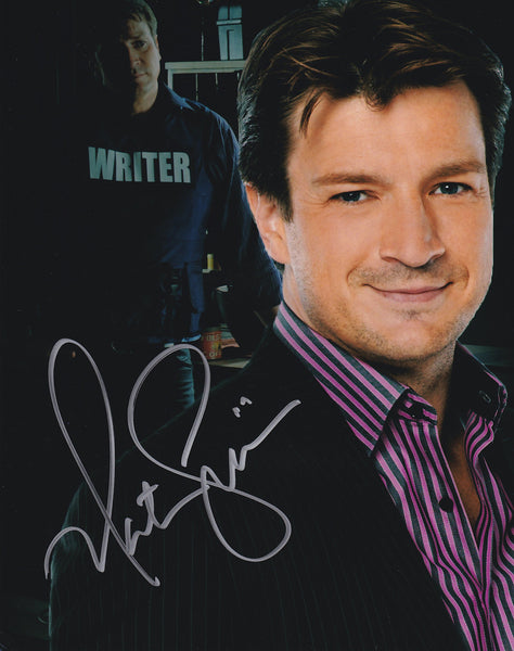 Nathan Fillion signed Castle 8x10 photo - Autographed