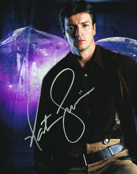 Nathan Fillion signed Firefly / Serenity 8x10 photo - Autographed