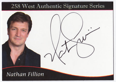 Nathan Fillion signed trading card - Limited to 60