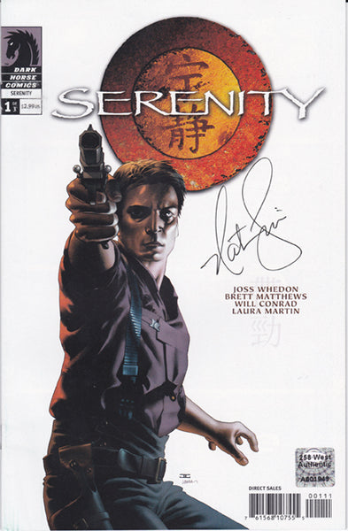 "Nathan Fillion signed ""Serenity"" Comic Book (2005) - Issue #1"