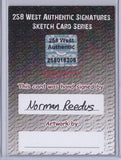 Norman Reedus - Signed Blank Sketch Card B (The Walking Dead)