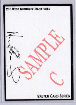 Norman Reedus - Signed Blank Sketch Card C (The Walking Dead)
