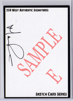 Norman Reedus - Signed Blank Sketch Card E (The Walking Dead)