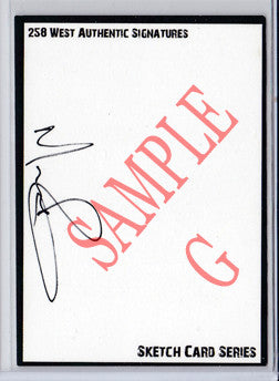 Norman Reedus - Signed Blank Sketch Card G (The Walking Dead)