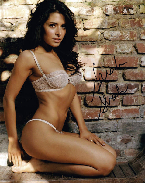 Sarah Shahi signed 8x10 photo from Maxim Shoot - Autographed