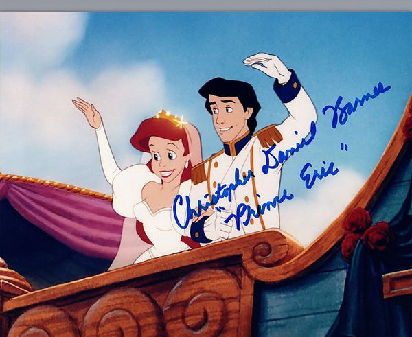 "Disney's Little Mermaid ""Prince Eric"" signed 8x10 photo by Christopher Daniel Barnes"