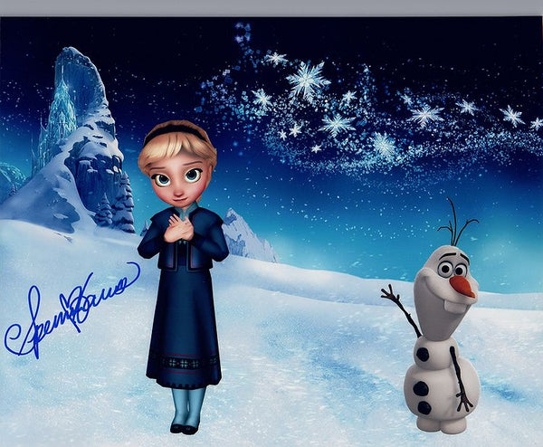 "Disney's Frozen signed ""Elsa"" 8x10 by Spencer Lacey Ganus"