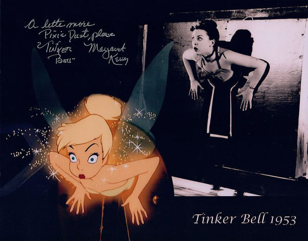 "Disney's Peter Pan ""Tinkder Bell"" 1953 signed 8x10 photo by Margaret Kerry"